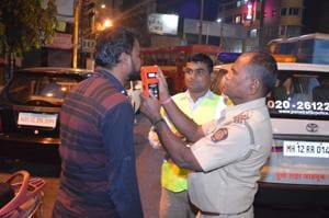 Police have pointed out that at least 500 cases of drunk driving were registered in the last 3 days.