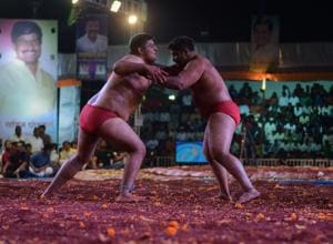 The first Traditional Wrestling National Championship was held at Somatane Phata, Talegaon.