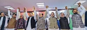 The mahagathbandhan got a boost when RLSP leader Upendra Kushwaha joined the alliance during a press conference at AICC in New Delhi on December 20.