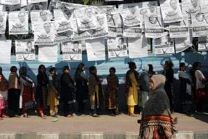 Voters queue at a voting center during the general election in Dhaka, Bangladesh December 30, 2018.