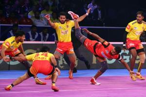 Bengaluru Bulls to a dominating 41-29 win over Gujarat Fortunegiants in the first qualifier.