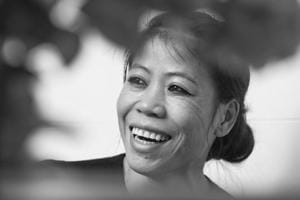 Boxer Mary Kom urges everyone to never give up and keep trying.