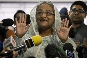 The Prime Minister Sheikh Hasina-led Awami League (AL) delivered a crushing defeat to the opposition National Unity Front (NUF) in Bangladesh's general election.
