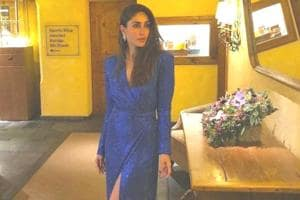 Kareena Kapoor Khan's sophisticated new year's gown comes with a sexy twist. (Instagram)