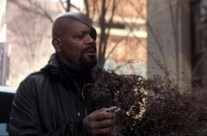 Nick Fury getting decimated at the end of Avengers: Infinity War.