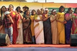 Lakhs of women across Kerala lined up from one end of the state to the other to form a women's wall on Tuesday to uphold gender equality and renaissance values.