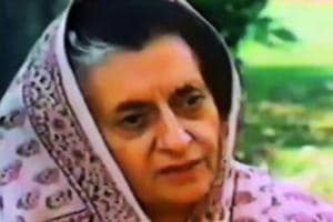Indira Gandhi during an interview. The Congress split in 1969 did not just set the path for Indira Gandhi's ascent, it probably changed the Congress party forever