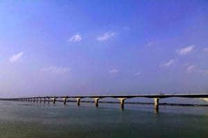The proposed bridge over Ganga aims to decongest Vikramshila Setu