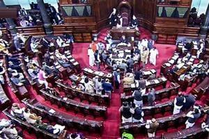 New Delhi: A view of the Rajya Sabha in New Delhi, Thursday, Dec 27, 2018. (RSTV Grab via PTI) (PTI12_27_2018_000034B)