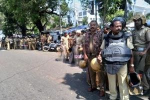 The BJP had called for a two-day protest against the women's entry in the Sabarimala temple under police protection.