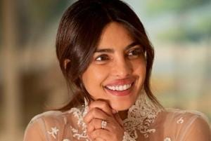 Priyanka Chopra wore an elaborate gown, hand-embroidered by Indian artisans, at her December 1 wedding in Jodhpur.