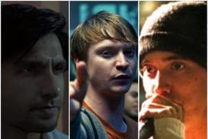 Ranveer Singh, Calum Worthy and Eminem in stills from Gully Boy, Bodied and 8 Mile.