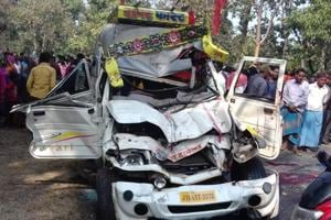 The accident victims included the driver of  the hearse. Several others, all travelling in the jeep, were injured.