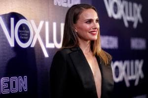 Cast member Natalie Portman poses at a premiere for the movie Vox Lux in Los Angeles, California.