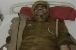 UP cop who mimicked 'thain thain' shot by criminals