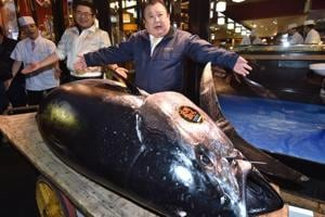 A 612-pound (278-kilogram) bluefin tuna sold for a record 333.6 million yen (Rs 21 crore) in the first auction of 2019, after Tokyo's famed Tsukiji market was moved to a new site on the city's waterfront.