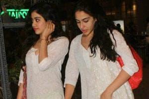 Sara Ali Khan and Janhvi Kapoor twinning in white.