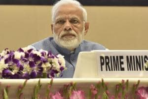 Prime Minister Narendra Modi on Sunday said that the Andhra Pradesh chief minister N Chandrababu Naidu was so fixated with the rise of his own son that he is creating an atmosphere for the sunset of the state.