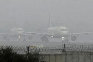Delhi witnessed a foggy morning on Monday as  all flights to and from and 13 trains to the national capital were running late because of poor visibility.