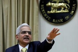 Shaktikanta Das, the Reserve Bank of India (RBI) governor, gestures as he attends a news conference in Mumbai on December 12.