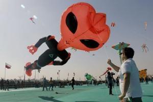 Photos: International Kite Festival brings ornate pieces to Ahmedabad skies