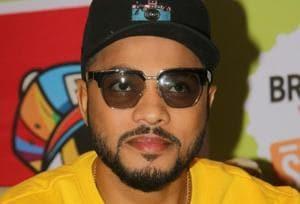 Rapper Raftaar during a press conference of a hip hop festival. (Photo: IANS)