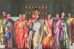 A model wearing Gaurang Shah at the Artisan Speak fashion show organised by the Ministry of Textiles, India at Red Fort, Delhi.  (Instagram)