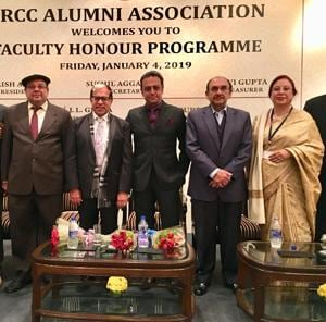 Actor Gulshan grover was recently honoured by his alma mater, Shri Ram College of Commerce.