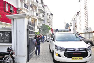 CBI conducted raid at the residence of IAS officer BS  Chandrakala in Lucknow in connection with multi-crore illegal mining scam in Lucknow on Saturday.