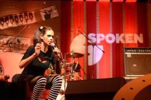 Actor Kalki Koechlin performing at the first Spoken fest, in 2017.