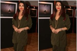 Aishwarya Rai Bachchan was seen sporting a  wrist scarf paired with a pant suit at a recent event in Mumbai .