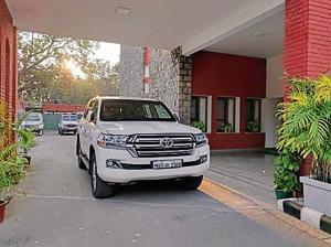 The Land Cruiser outside Navjot Sidhu's official residence in Chandigarh