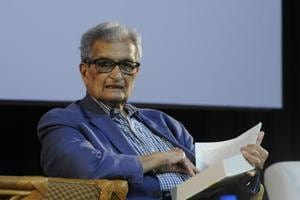 "Nobel laureate economist Amartya Sen said the Modi government sustained the ""high economic growth"" achieved during the UPA regime, but that did not translate into jobs, poverty elimination and better healthcare and education for all."