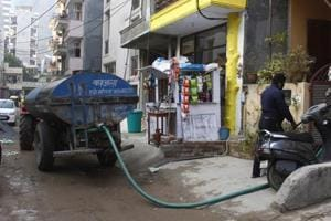 Residents of DLF-3 said they have not been getting adequate or regular water supply for four days.