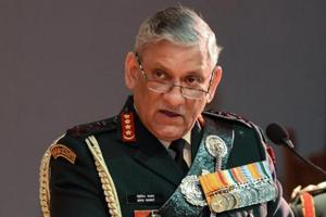 The army chief said there is no cause of concern on the western and northern fronts .