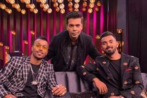 HardikPandya and KLRahul with Karan Johar on Koffee With Karan.