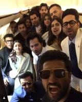 Vicky Kaushal and many other Bollywood celebs flew to Delhi together on Thursday to meet PM Modi.