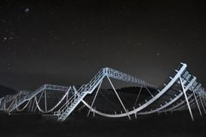 The discovery of the extragalactic signal is among the first, eagerly awaited results from the Canadian Hydrogen Intensity Mapping Experiment (CHIME), a radio telescope inaugurated in 2017.