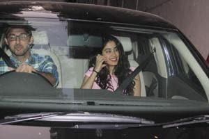 Janhvi Kapoor was spotted with a friend inBandra, Mumbai.