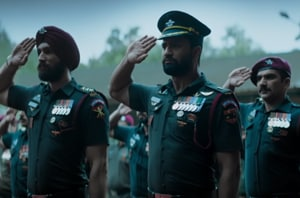 Uri movie review: Vicky Kaushal plays the gung-ho Major Vihaan Shergill, a well-built jawaan with a perpetually puffed chest.