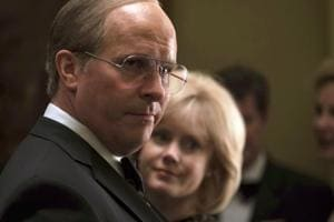 This image released by Annapurna Pictures shows Christian Bale as Dick Cheney, left, and Amy Adams as Lynne Cheney in a scene from Vice.