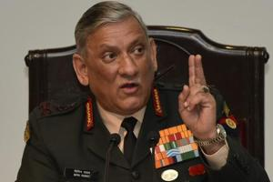 Army chief General Bipin Rawat during a annual press conference at Manekshaw Centre, Delhi Cantt. in New Delhi, India, on Thursday, January 10, 2019.