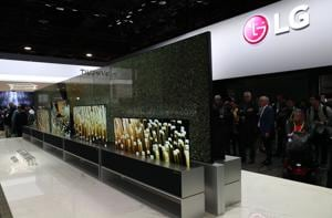 The LG Signature OLED TV R, the world