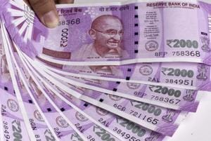 Forex traders said the weakness in the US dollar against other currencies overseas, falling crude oil prices and fresh foreign fund inflows pushed the rupee higher.