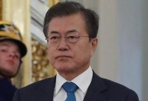 """North Korea needs to take """"more bold, practical measures for denuclearisation"""" to ensure sanctions are lifted, the South's president Moon Jae-in said Thursday. / AFP PHOTO / POOL / SERGEI KARPUKHIN"""