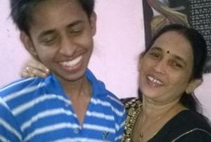 File pic of the victim Jai Prakash Maharana with his mother. Jai was allegedly killed by his uncle three years ago and his body was buried in the flat which he shared with the uncle.