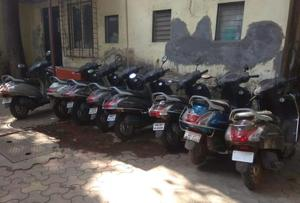 Police have recovered nine scooters from the accused duo.