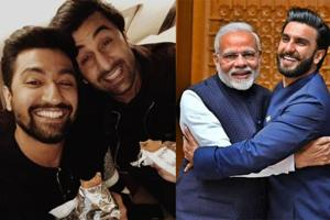 Vicky Kaushal bonded with Ranbir Kapoor while Ranveer Singh shared a warm hug with Prime Minister Narendra Modi in Delhi.