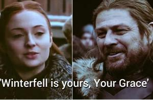 Sansa Stark said the same words as her father Ned in GOT promo.