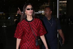 Sonam Kapoor  spotted at the Mumbai airport.